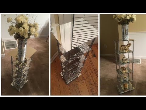 Dollar Tree DIY - 💕Beautiful Mirrored Stand💕