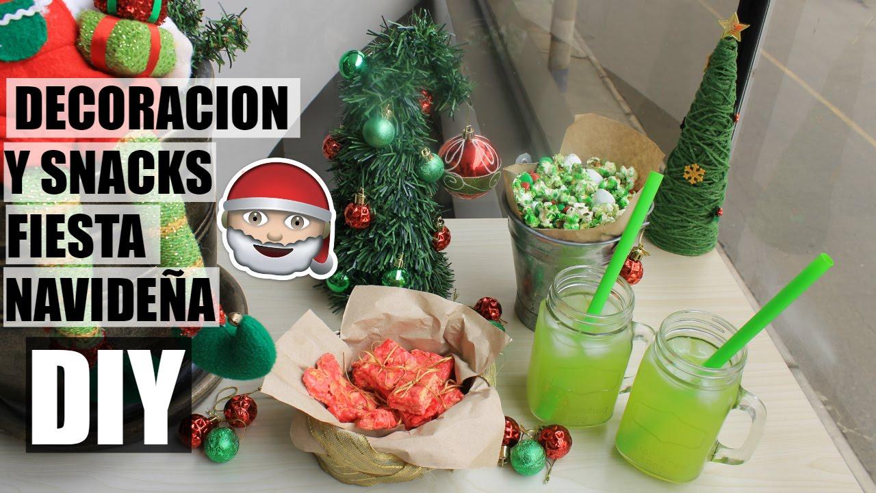 Fiesta navide a decoracion snacks y bebidas grinch - Decoracion fiesta navidena ...