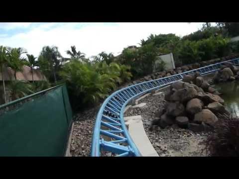 Jet Rescue Roller Coaster Front Seat POV Sea World Australia