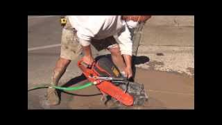 "How To Cut / Pour / Patch / Resurface Concrete Part 1 of 5 ""Cutting"" (HTL #102)"