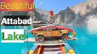 Beautiful Atta Abad Lake Gojal Gilgit Northeran areas of Pakistan