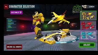 Formula Car Robot Games - Air Jet Robot Transform Android Gameplay screenshot 1