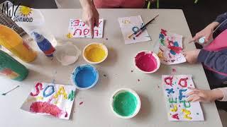 Les Tutos d'Huguette : atelier Puff Paint
