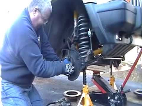 Jeep Cherokee Front Wheel Bearing Replacement  Part 1 of 3  YouTube