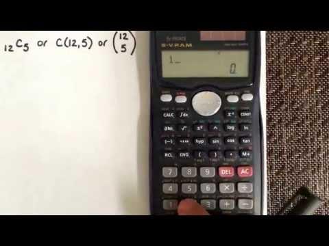 Combination using the calculator Casio fx-991MS - YouTube