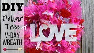 DIY Valentine's Day Wreath I How to make a Deco Mesh Wreath I Deco Mesh V-Day Wreath Tutorial