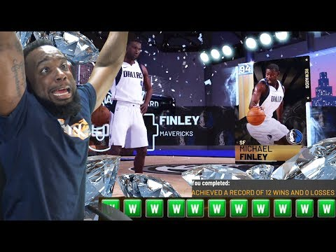 NBA 2K19 MyTeam Unlimited | I Went 12-0 With No Diamonds! Michael Finley Pack!