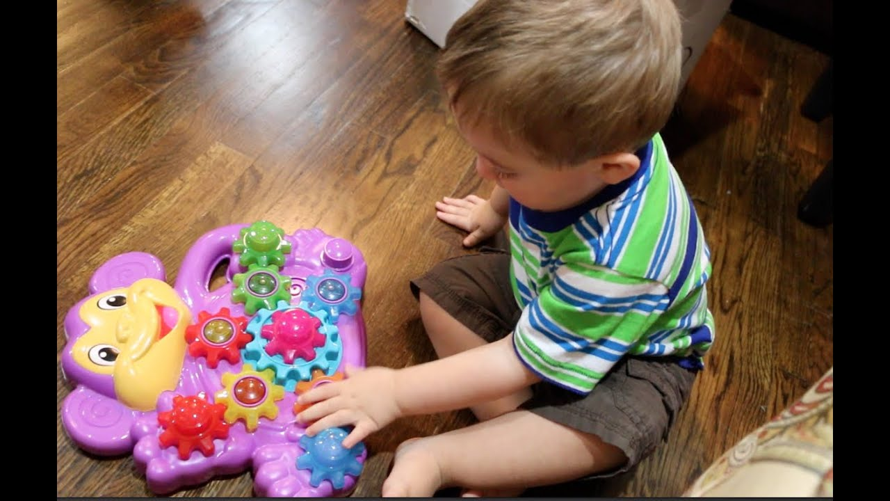 Playskool Stack n Spin Monkey Gears Toy Review - YouTube