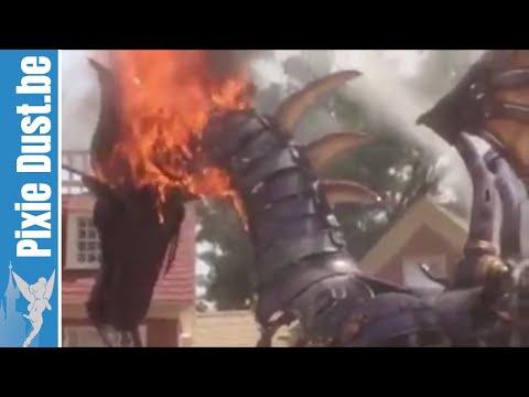 DRAGON ON FIRE at Magic Kingdom Parade Walt Disney World