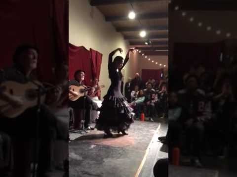 Mia dancing at Flamenco Denver