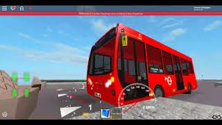 Roblox London Hackney & Limehouse bus Simulator E200 (euro 6) CSG CTP on Route 394 Winter 2017