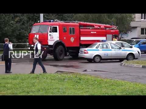 Russia: Camera captures moment teen attacks Moscow Region school