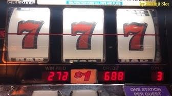 BIG WIN★BLAZING SEVENS $1 Slot Machine - 3 Reel Slot - Max Bet, Pechanga Casino
