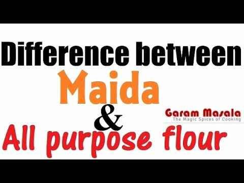 Difference between Maida flour and All purpose flour