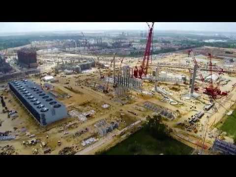 Sasol's US Mega Project (April 2017) | Latest aerial view of construction