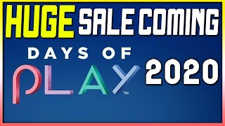 Huge Psn Sale Coming - Days Of Play 2020 Is Soon!