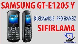samsung gt e1205y sıfırlama