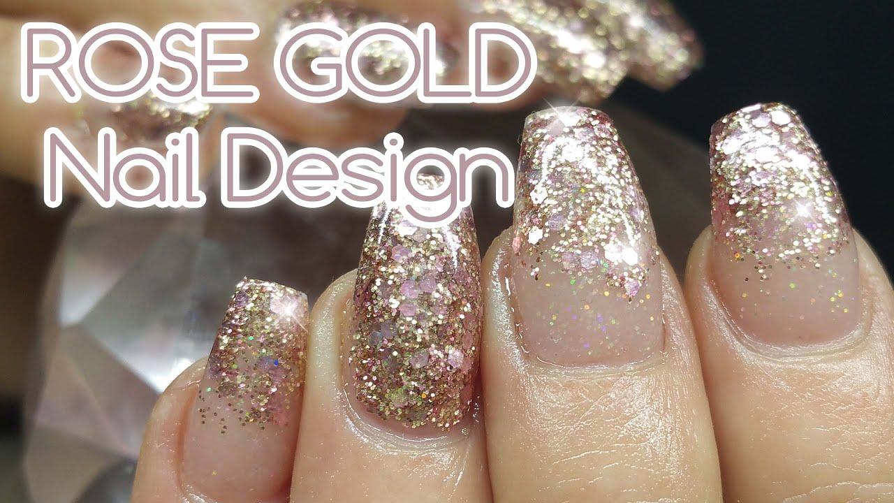 Rose Gold Nail Art Design Featuring My Rose Gold Mix And Princess