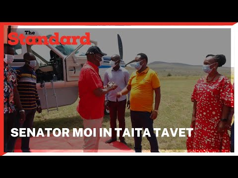 Senator Gideon Moi arrives in Taita Taveta county for leaders meeting & fundraising for women groups
