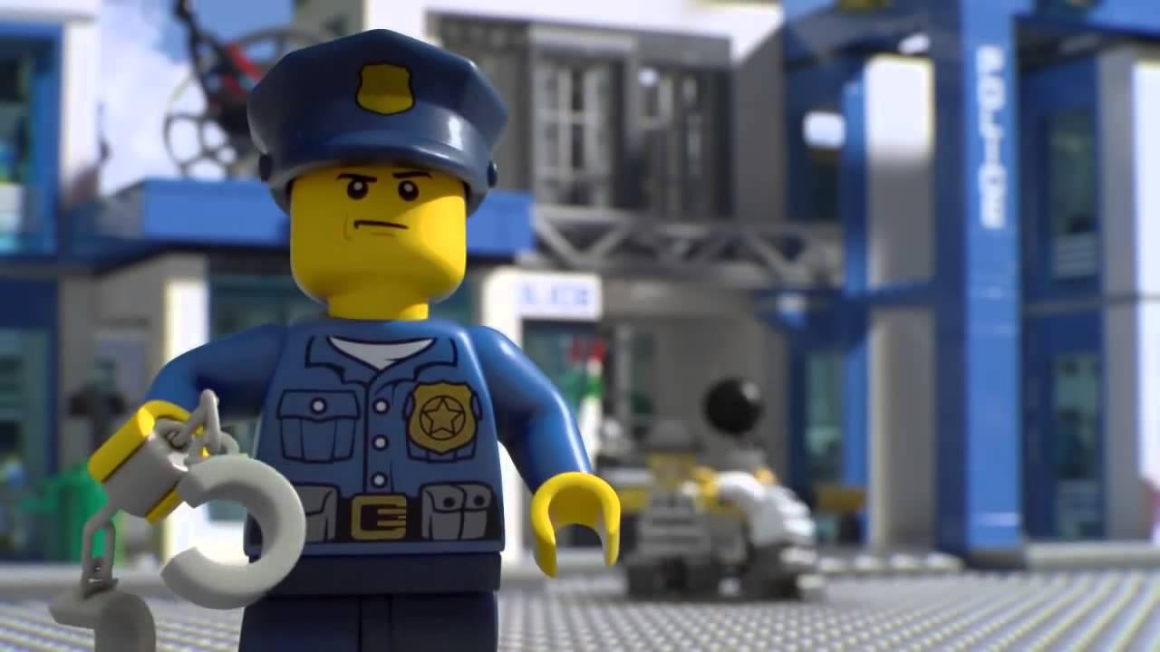 Lego City Reklama Posterunku Policji Oraz Helikoptera Zwiadowczego