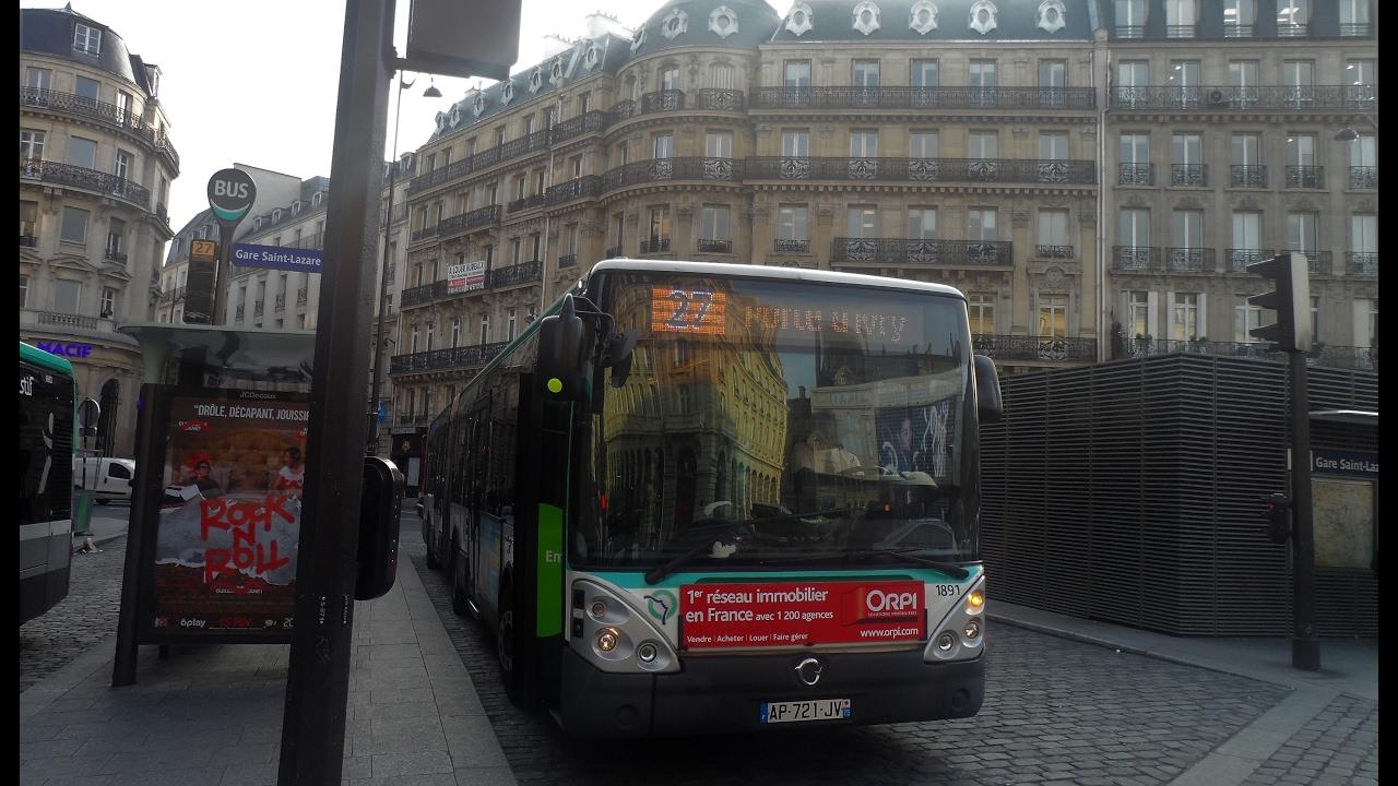 La ligne de bus RATP 27 : Gare Saint-Lazare - Porte d'Ivry