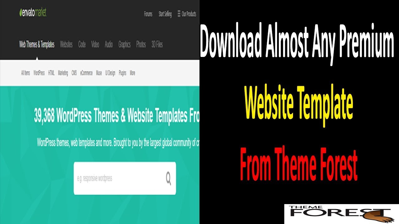 How To Download Almost Any Premium Website Template From Theme Forest Theme Forest Template For Free