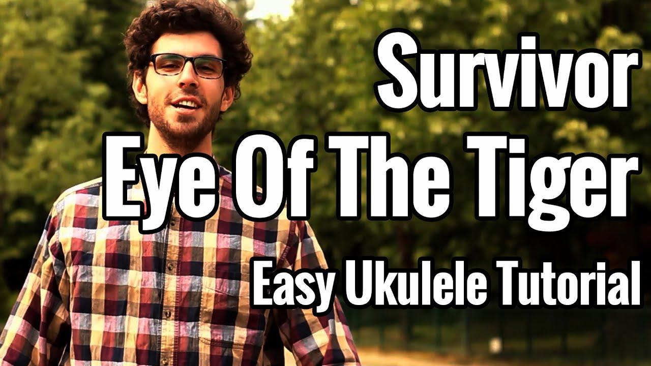 eye of the tiger ukulele tutorial easy survivor. Black Bedroom Furniture Sets. Home Design Ideas