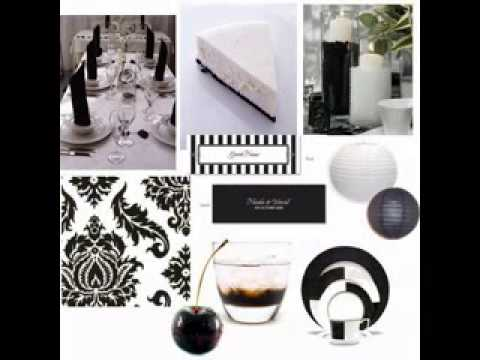 Black and white decorating ideas for a party
