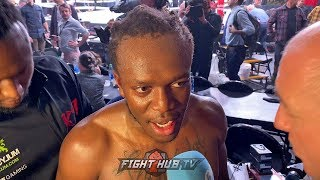 "KSI IMMEDIATELY AFTER LOGAN PAUL WIN ""NO TRILOGY, ITS DONE! I FEEL LIKE A FIGHTER!"""