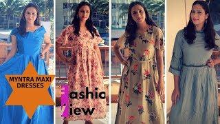 MYNTRA MAXI DRESS HAUL || DIWALI SALE HAUL || FASHIONVIEWCHETNA