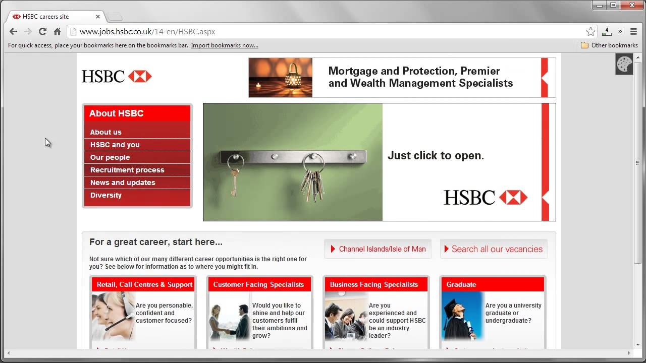HSBC Job Application