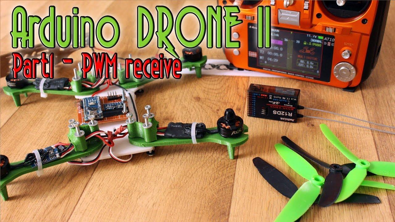 Arduino DRONE II Part 1 receiver PWM read