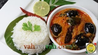 Eggplant/ Brinjal Curry - Ennai Kathirikai Kulambu - By Vahchef @ Vahrehvah.com