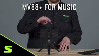 Shure MV88+ How to set up for music recording
