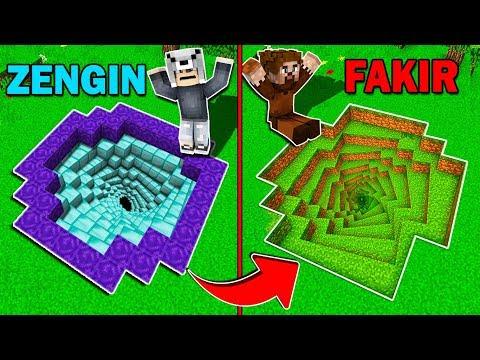 ZENGİN SONSUZ ÇUKURU VS FAKİR SONSUZ ÇUKURU! 😱 - Minecraft