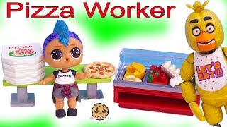 LOL Surprise Punk Boi Works at Roblox Pizza Restaurant ! FNAF + Toy Play Video