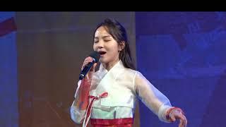 송소희 아리랑. 홀로아리랑_ 2018평창올림픽 성화봉송 축하행사_용인 에버랜드18 01 06