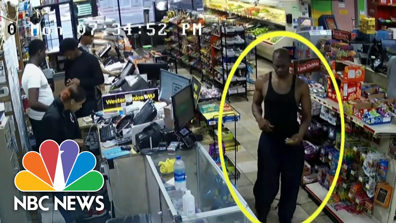 Chauvin Trial: Surveillance Video Shows Inside Convenience Store   NBC Nightly News