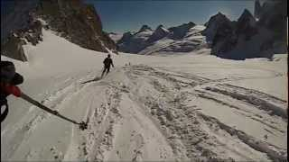 Skiing the Vallée Blanche - Chamonix-Mont-Blanc January 2013