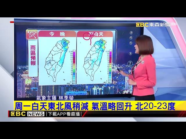氣象時間 1071208 晚間氣象 東森新聞