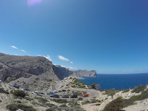 Drive to Cap de Formentor, Mallorca, Spain 2016 full drive to beach and lighthouse GoPro Hero4