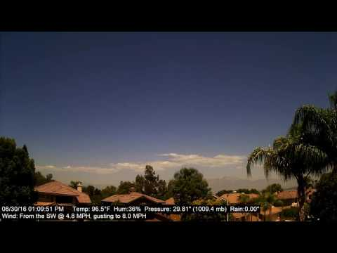 Chino Hills Time-Lapse 8/30/16