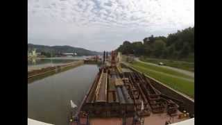 (TIME LAPSE VIDEO) AUGUST 2 2014 MV EVANICK TRIP FROM LOCK 3 MON RIVER TO NEVILLE