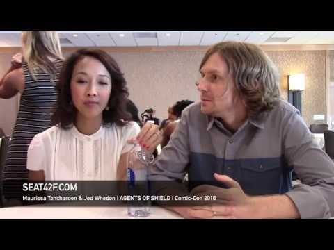Maurissa Tancharoen & Jed Whedon AGENTS OF SHIELD Interview Comic Con 2016
