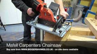 Mafell Carpenters Chainsaw Demonstration
