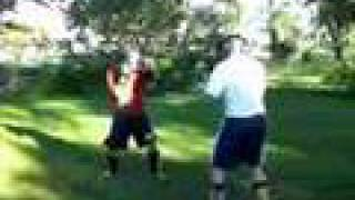 Kickboxing Sparring Light(ish) contact 7/3/08