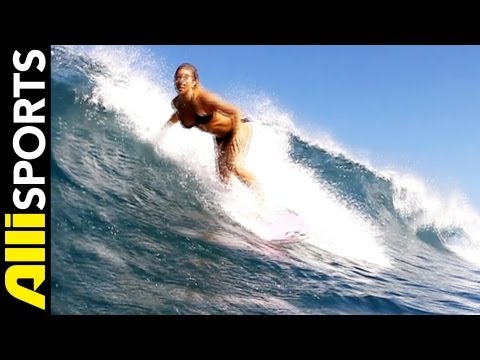 Coco Ho Surfing On The Road in New York City, Alli Sports