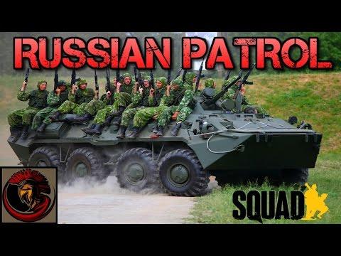 RUSSIAN BTR PATROL - Squad Gameplay