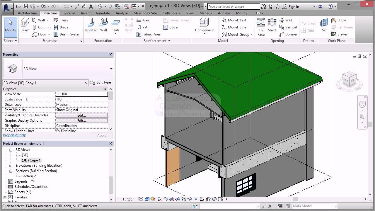 Revit 12 estructura de techo canales fascia 123vid for Como hacer una estructura metalica para techo