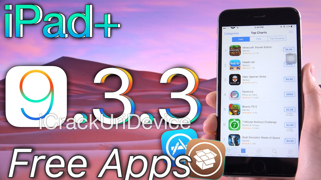 how to get paid apps for free jailbreak ios 9.3.3